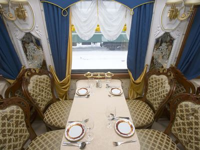 Moscow - Beijing Train Tour. Dining Car