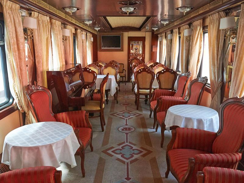 New Year in Arctic Circle Tour. Salon of the Imperial Russian Train
