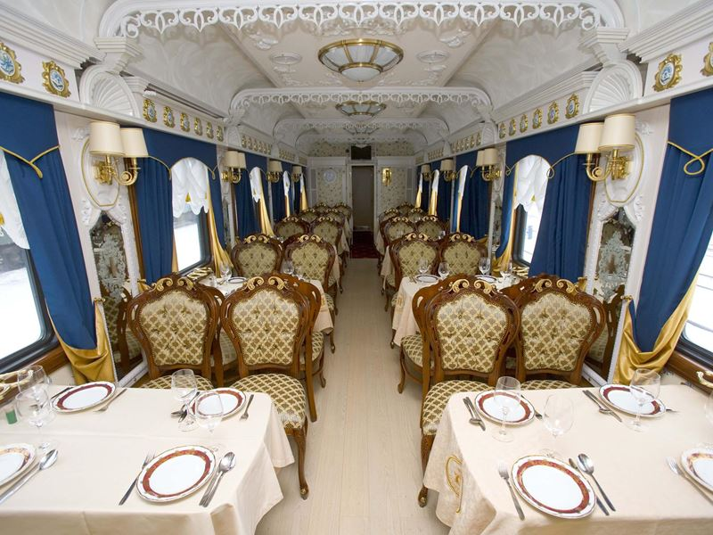 New Year in Arctic Circle Tour. Dining Car