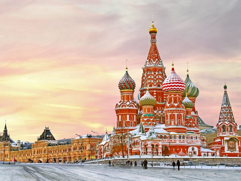 New Year in Arctic Circle Tour. Red Square, Moscow