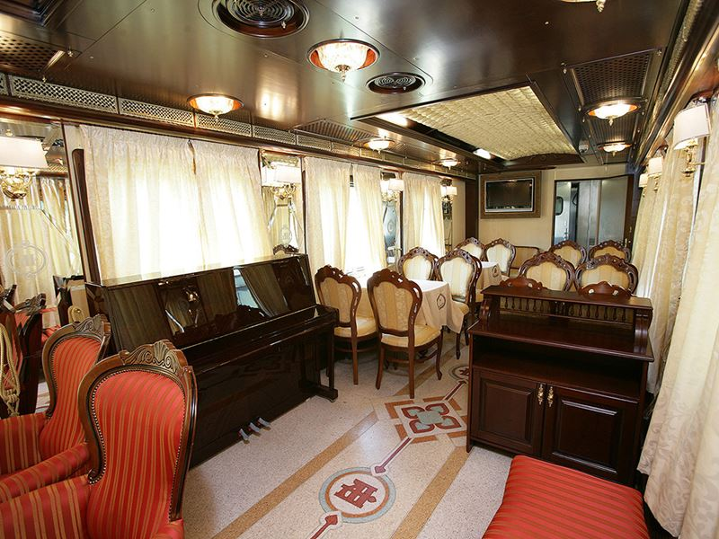 Moscow - Beijing Train Tour. Bar car
